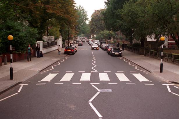 Cruce peatonal en Abbey Road