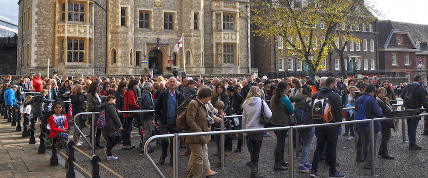 La fila en Tower of London