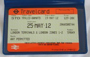Travelcard zonas 1-2