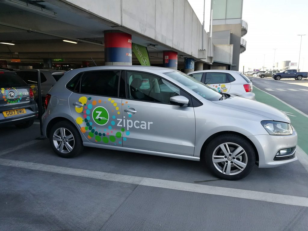Zipcar plateado manual