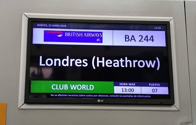 Cartel Londres Heathrow