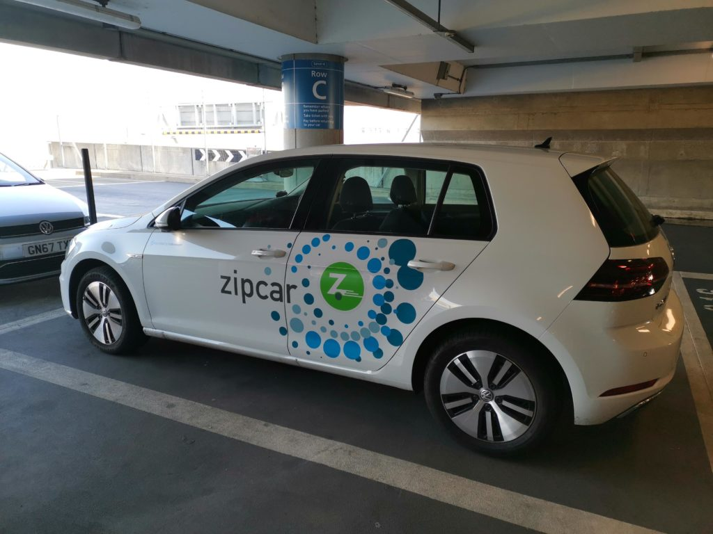 VW e-Golf de Zipcar