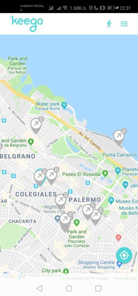 Mapa Applicación Keego