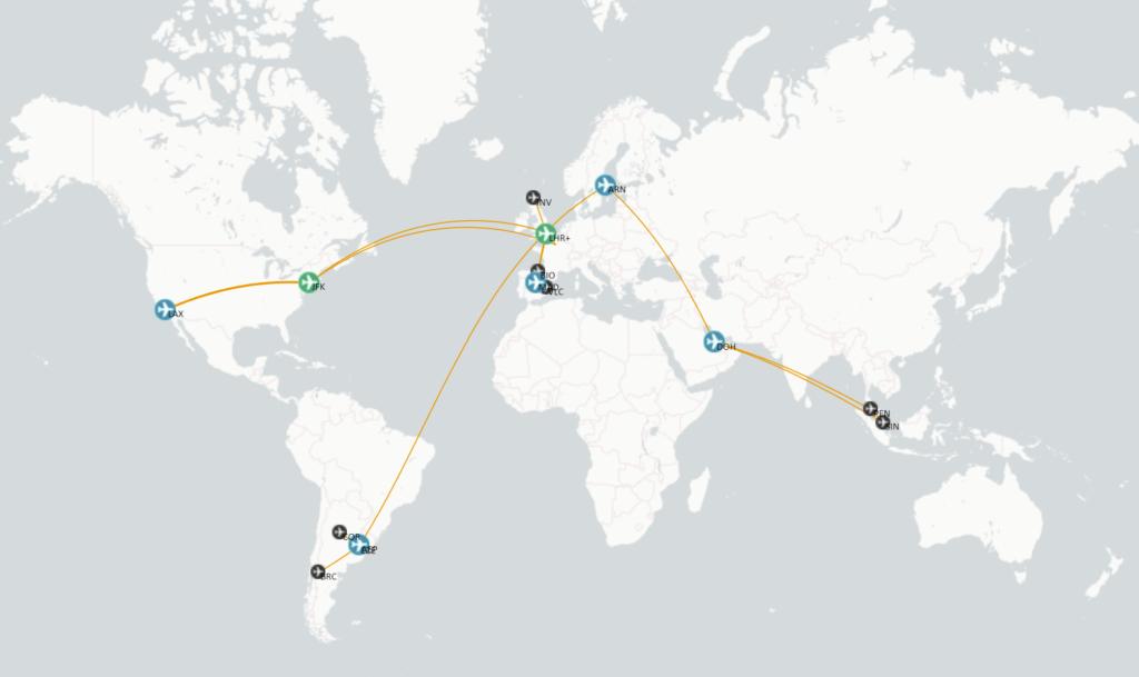 Mapa vuelos 2019