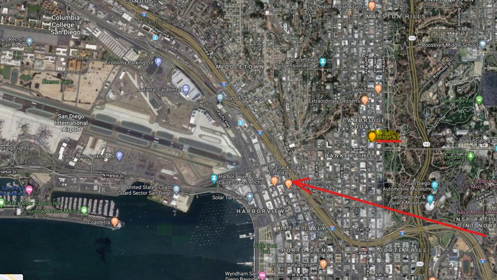 Mapa Aeropuerto San Diego