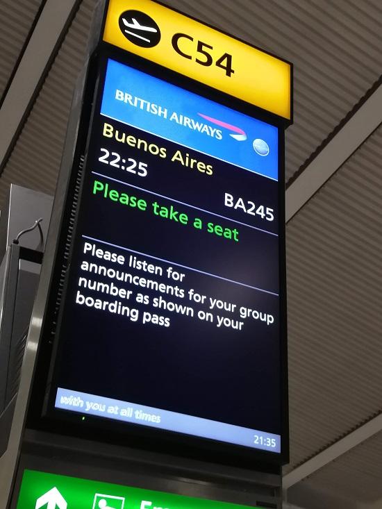 Heathrow a Buenos Aires